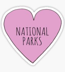 I Love National Parks Sticker