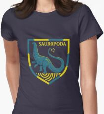 Sauropoda: Dinosaur Coat of Arms Womens Fitted T-Shirt