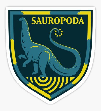 Sauropoda: Dinosaur Coat of Arms Sticker