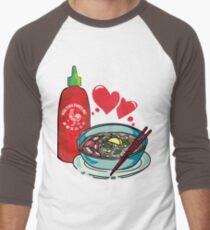 Pho & Sriracha Love Men's Baseball ¾ T-Shirt