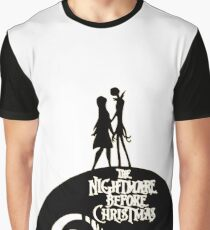 Jack and Sally - The Nightmare Before Christmas Graphic T-Shirt
