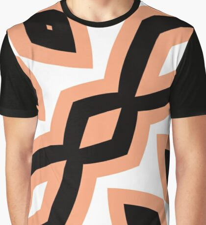Peach and Black by Julie Everhart Graphic T-Shirt