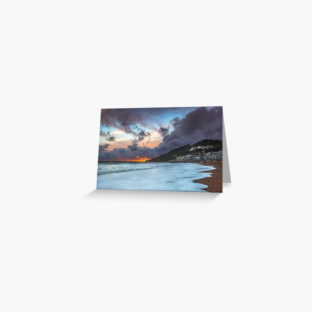 Ventnor Surfers Sunset Greeting Card
