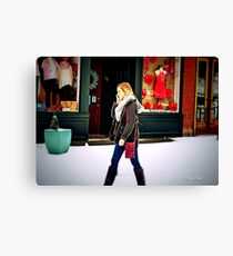 The World is Her Oyster Canvas Print