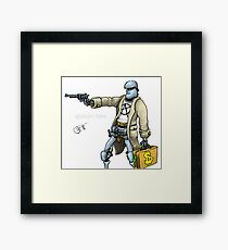 Daddy was a bank robber Framed Print
