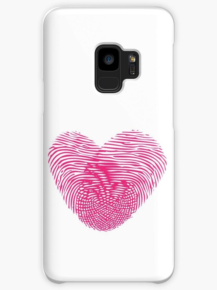 Rosa Fingerabdruck Herz Hullen Skins Fur Samsung Galaxy Von