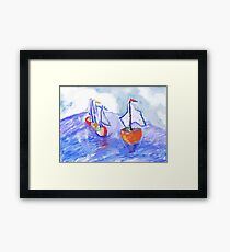 Boat Group Framed Print