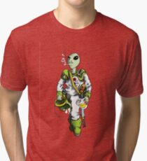 alien pilot is a film fan Tri-blend T-Shirt