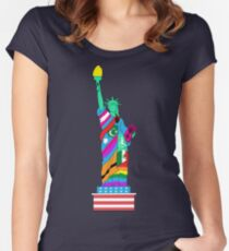 Liberty for All Women's Fitted Scoop T-Shirt