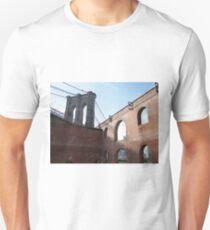 Brooklyn Bridge, View from Brooklyn Bridge Park, New York  Unisex T-Shirt