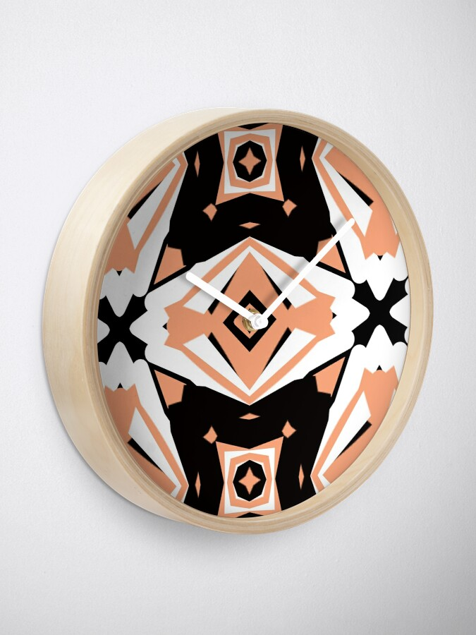Alternate view of Peach and Black 2 by Julie Everhart Clock