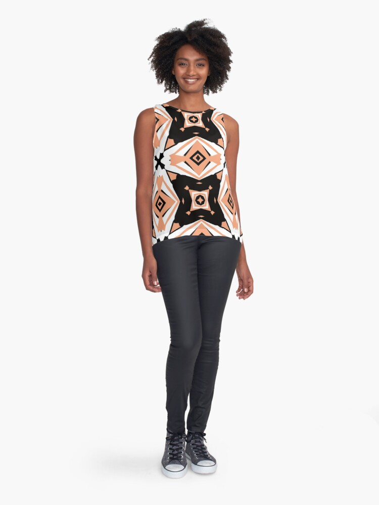 Alternate view of Peach and Black 2 by Julie Everhart Sleeveless Top