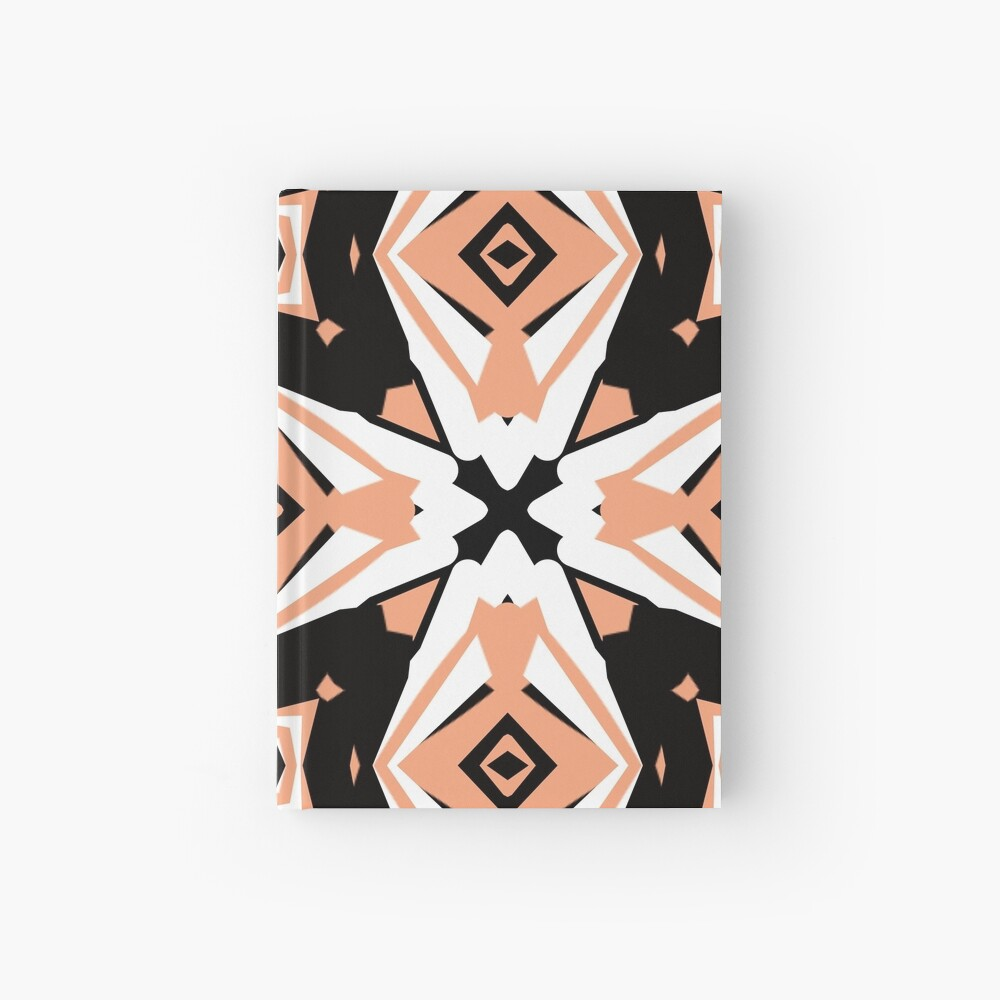 Peach and Black 2 by Julie Everhart Hardcover Journal