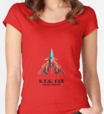 Arcade Shmup Fan  Women's Fitted Scoop T-Shirt