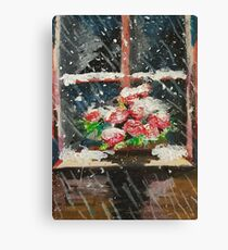 Oil Flowers Canvas Print