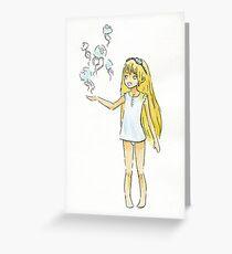 Jellyfish Girl Greeting Card