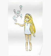 Jellyfish Girl Poster