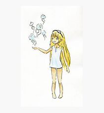 Jellyfish Girl Photographic Print