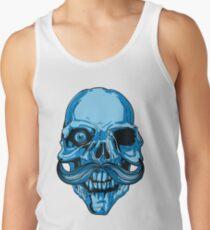 Hipster Skeleton Mustach Tank Top