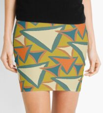 Decades Young 70's Living Room Triangles Mini Skirt