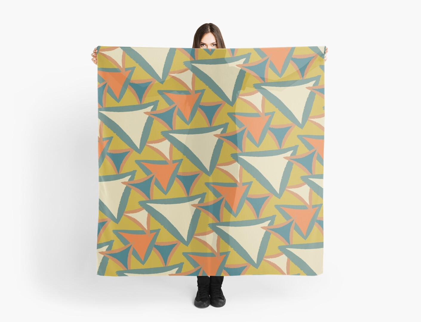 Decades Young 70's Living Room Triangles by Chaparralia