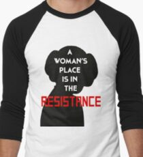 A Woman's Place Is In The Resistance Men's Baseball ¾ T-Shirt