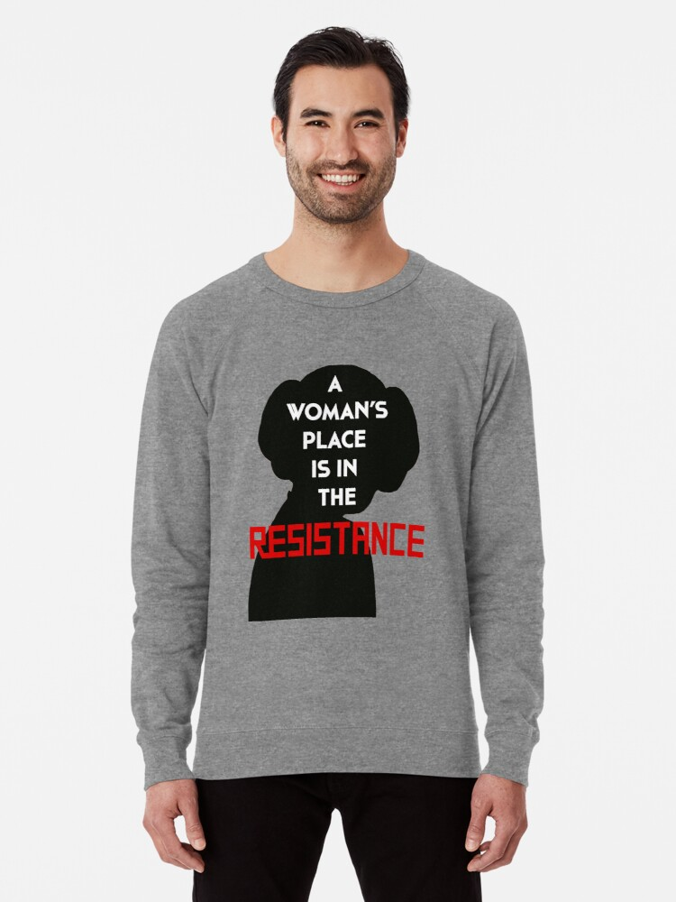 A WOMAN/'S PLACE IS IN THE RESISTANCE Men/'s T-shirt princess leia star wars