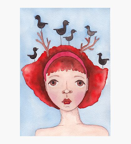Ruby and the Ravens Photographic Print