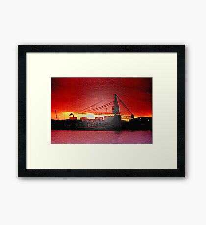 Quay Silhouettes Framed Print