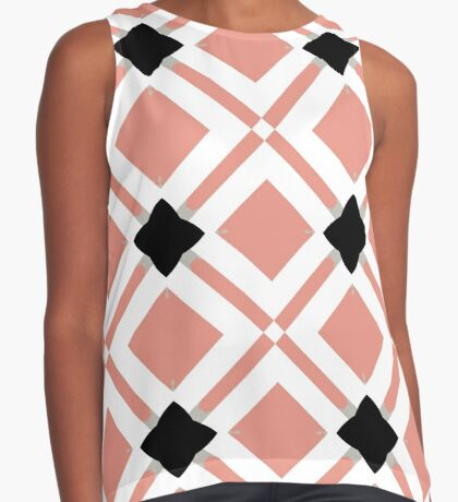 Pattern in Mauve and Black by Julie Everhart Sleeveless Top