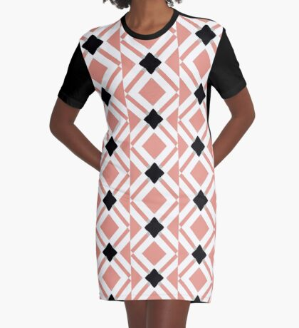 Pattern in Mauve and Black by Julie Everhart Graphic T-Shirt Dress