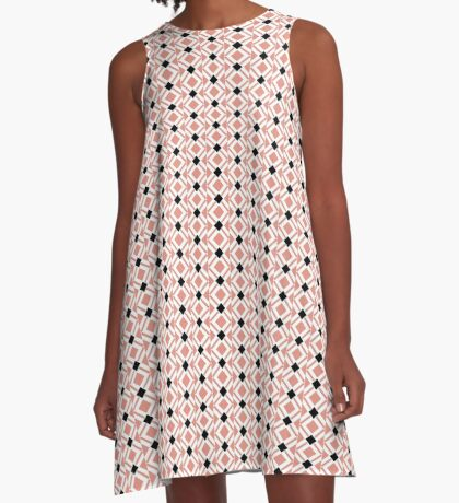 Pattern in Mauve and Black by Julie Everhart A-Line Dress