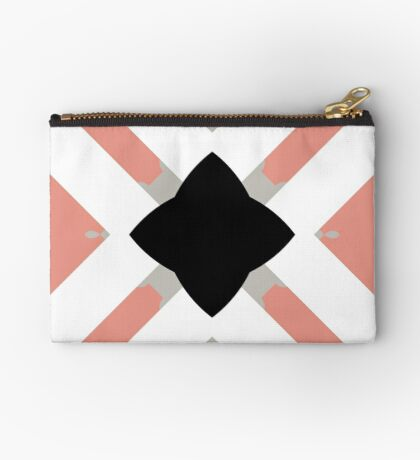 Pattern in Mauve and Black by Julie Everhart Zipper Pouch