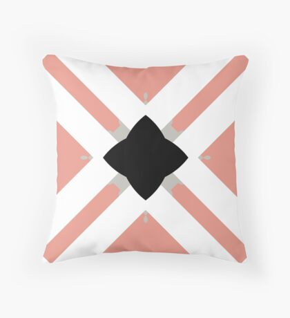 Pattern in Mauve and Black by Julie Everhart Throw Pillow