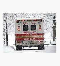 Snow emergency! Photographic Print