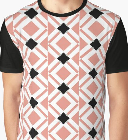 Pattern in Mauve and Black by Julie Everhart Graphic T-Shirt