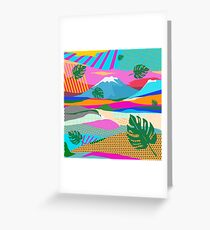 beautiful colors scenery Greeting Card