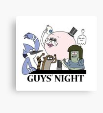Guys' Night Canvas Print