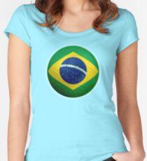 Brazil - Brazilian Flag - Football or Soccer 2 Women's Fitted Scoop T-Shirt