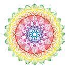 Regenbogen-Mandala von Viktoriia
