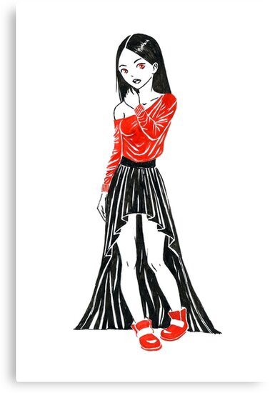 Girl in Dress by freeminds
