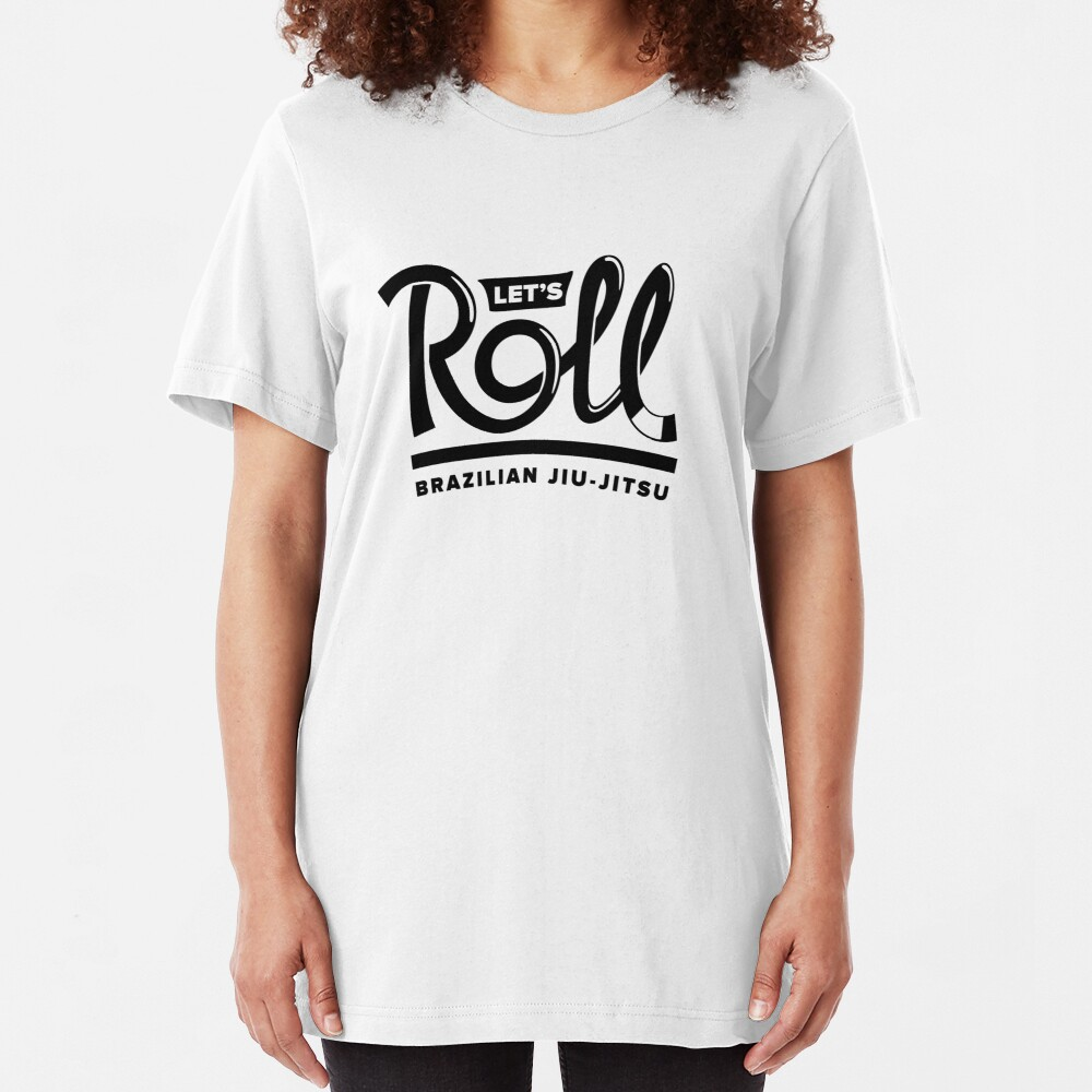 Let's Roll Brazilian Jiu-Jitsu Black Belt Slim Fit T-Shirt