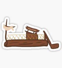 Tom Sawyer's Island Raft - Huck Sticker