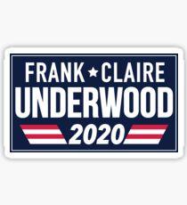 Frank & Claire Underwood 2020 - Blue Sticker