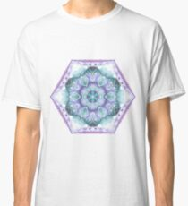 Purple and Green Watercolor Hexagon Classic T-Shirt