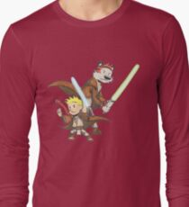 Calvin and Hobbes Star Wars Pals Long Sleeve T-Shirt