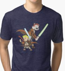 Calvin and Hobbes Star Wars Pals Tri-blend T-Shirt
