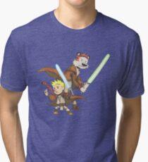 Calvin and Hobbes Star Wars Pals Tri-blend T-Shirt