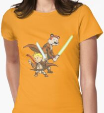 Calvin and Hobbes Star Wars Pals Womens Fitted T-Shirt