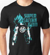 Goku Super Saiyan Blau-16 Slim Fit T-Shirt